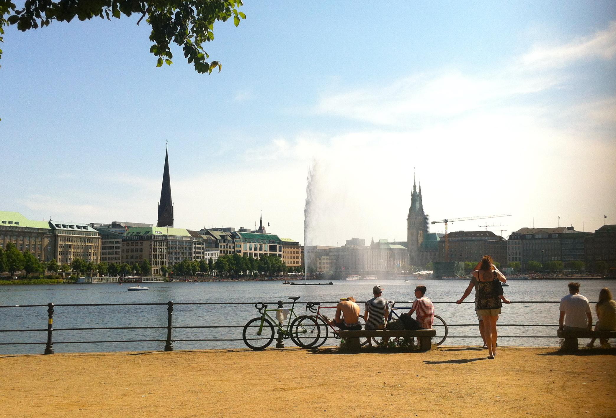 Binnenalster Innenalster Hamburg